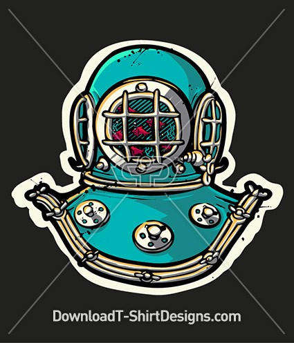 old diving suit helmet