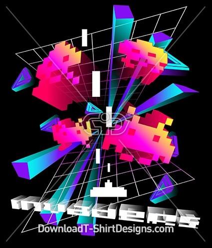 Retro 80's 3D Grid Video Game