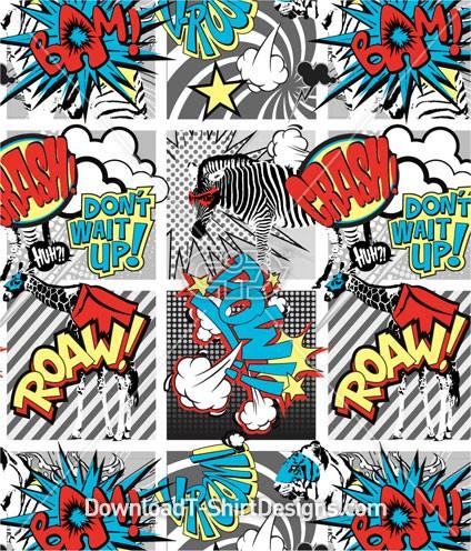 Comic strip pop art