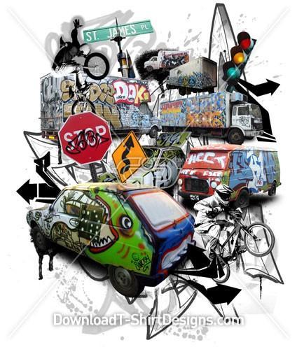 Street Art Graffiti City Car