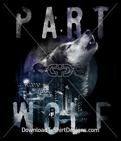Part Howling Wolf Animal Head City