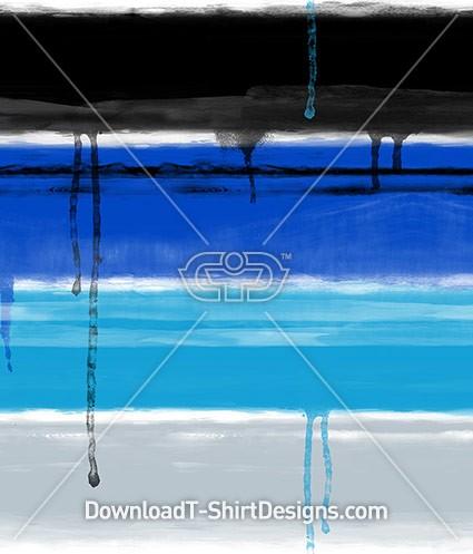 Dripping Blue Paint Textured Stripe Seamless Pattern