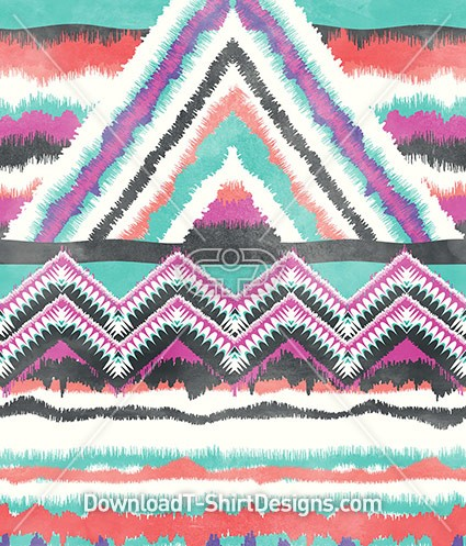 Large Scribble Tribal Geometric Seamless Pattern