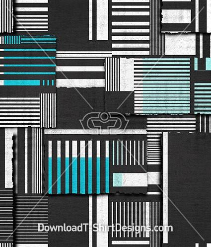 Geometric Striped Block Seamless Pattern