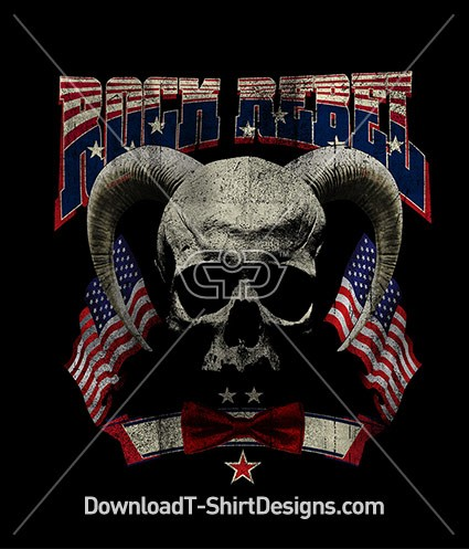 Rock Rebel American Flag Skull