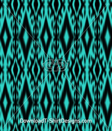 Teal Blue Tribal Triangle Seamless Pattern