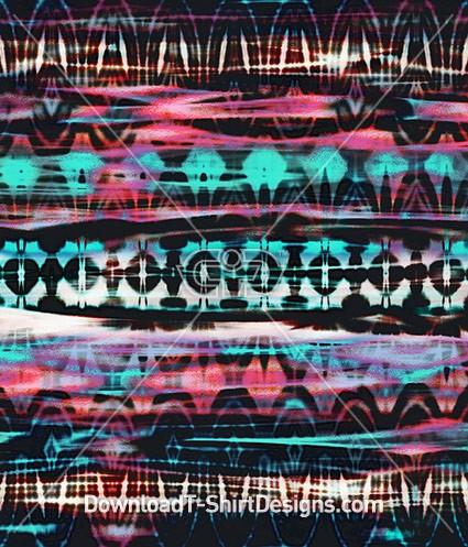 Modern Ethnic Tie Dye Stripe Seamless Pattern