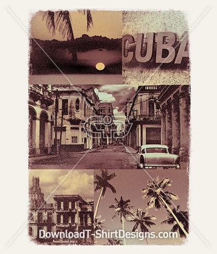 Vintage Cuba Faded Photo