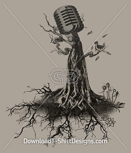 Music Roots Microphone Tree