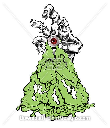 Oozing Goo Comic Eye Ball Zombie Hand
