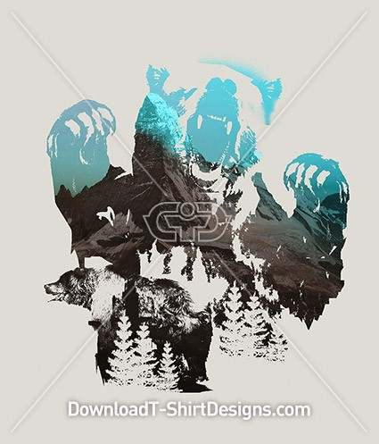 Grizzly Bear Animal Mountain