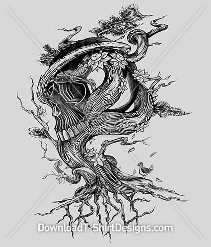 Twisted Tree Roots Skull