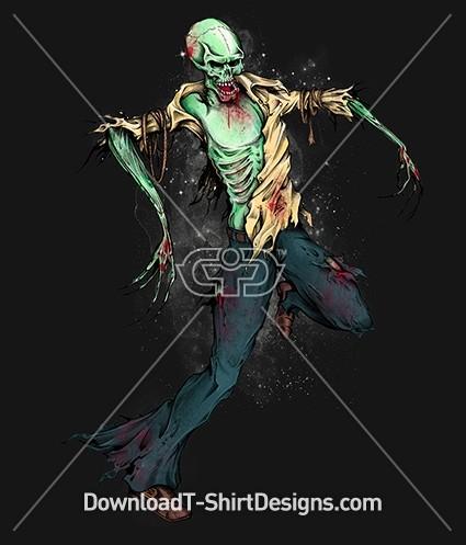 Walking Dead Zombie Monster Skeleton