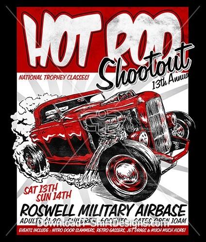 Vintage Hot Rod Car Poster