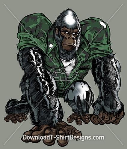 Tough Army Gorilla Animal Camoflauge