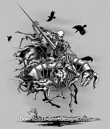 Medieval Skeleton Horse Rider