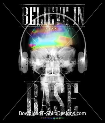 Believe in Base X-Ray Skull Headphones