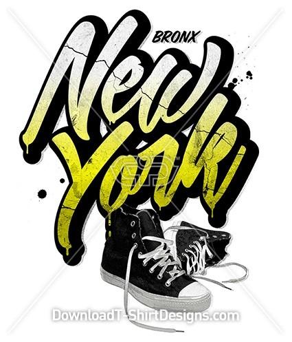 Bronx New York Grunge Sneaker Shoes