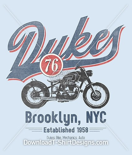 Brooklyn New York Dukes 76 Vintage Motorcycle