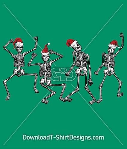 Christmas Festive Skeleton Dancing Party