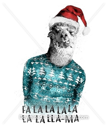 Festive Jumper Christmas Llama Character