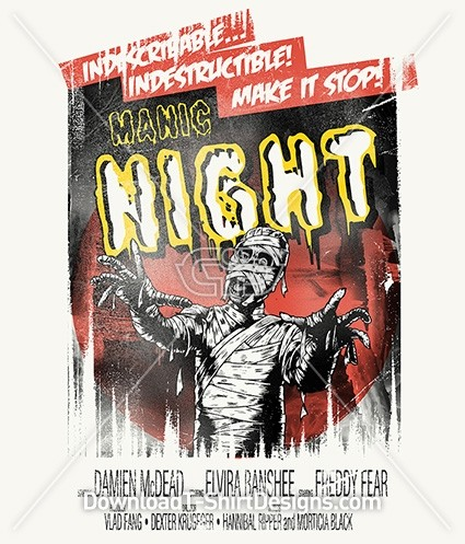 Zombie Horror Movie Manic Night Poster