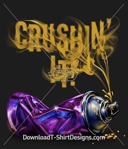 Crushin' It Every Day Slogan Graffiti Spray Can