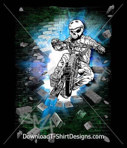 Crypt Crasher Skeleton BMX Bike Rider