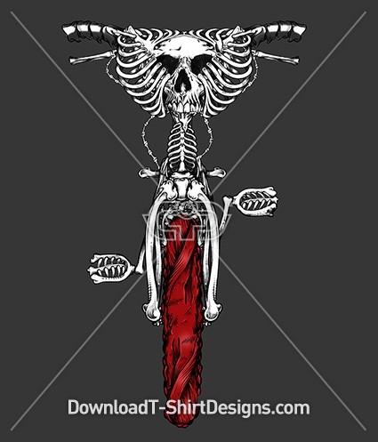 Monster Skeleton Bones Muscle BMX Bike