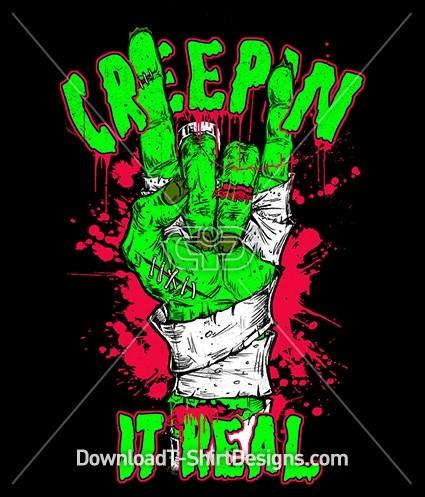 Creepin it Real Zombie Rock Hand Gesture