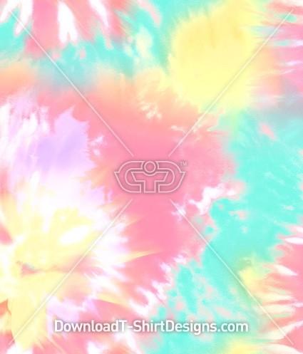 Tie Dye Pastel Seamless Pattern