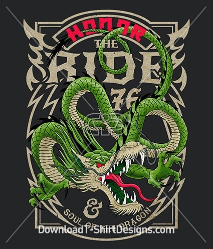Honor the Ride Dragon Tattoo Poster