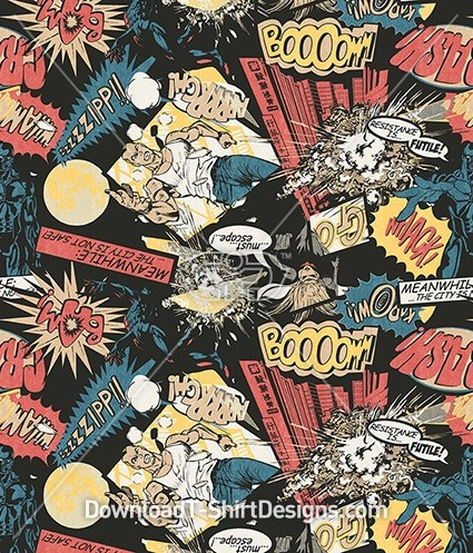 Retro Pop Art Comic Strip Seamless Pattern