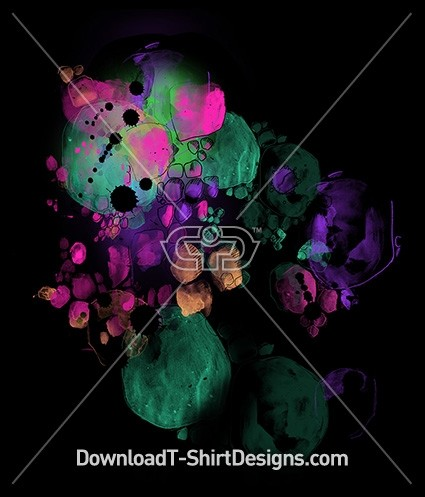 Colorful Abstract Liquid Water Color Bubbles