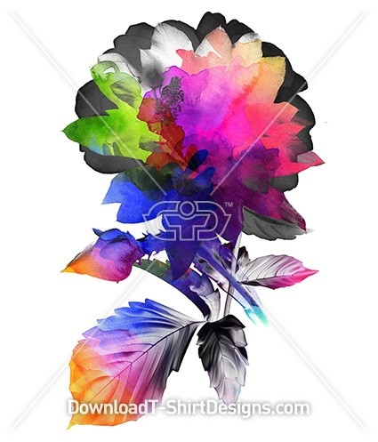 Abstract Bright Color Floral Flower Bouquet