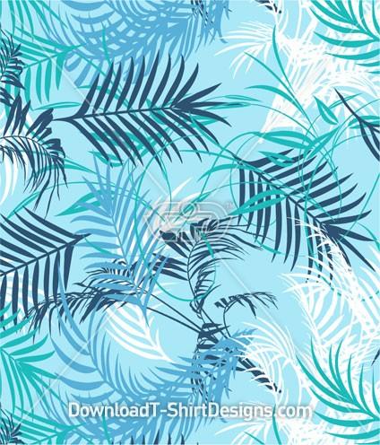 Tropical Palm Leaf Pattern Seamless