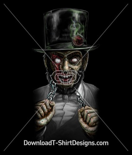 Scary Abraham Lincoln Zombie