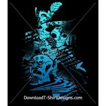 Skulls Asian Symbols