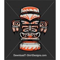 Retro Tiki Tribal Statue Mask