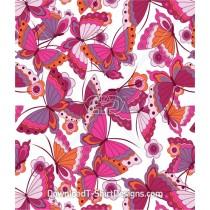 Cute Butterfly Flower Pattern Seamless Pattern