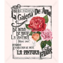 Vintage Decorative Rose French Poster