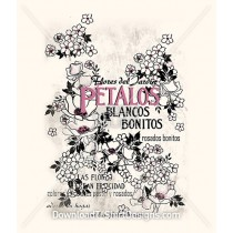 Decorative Vintage French Floral Petalos
