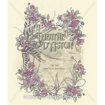 Decorative Vintage Floral Theatre Poster