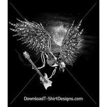 Flying Skeleton Guitar