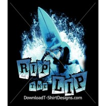 Rip The Lip Surfer Surfboard Blue Wave