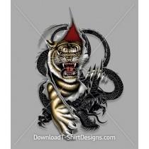 Tiger Dragon Claws Tattoo