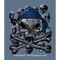 Evil Skulls Cross Bones Bandana