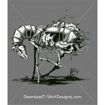 Skeleton Horse Metal Armour