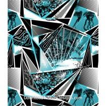 Palm Beach Abstract Geometric Seamless Pattern