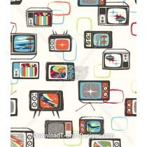 Retro 1950's Futuristic Television Seamless Pattern